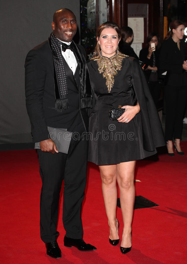 Sol Campbell. And wife Fiona arriving for the 2013 British Fashion Awards, at The London Coliseum, London. 02/12/2013 Picture by: Alexandra Glen / Featureflash stock photo