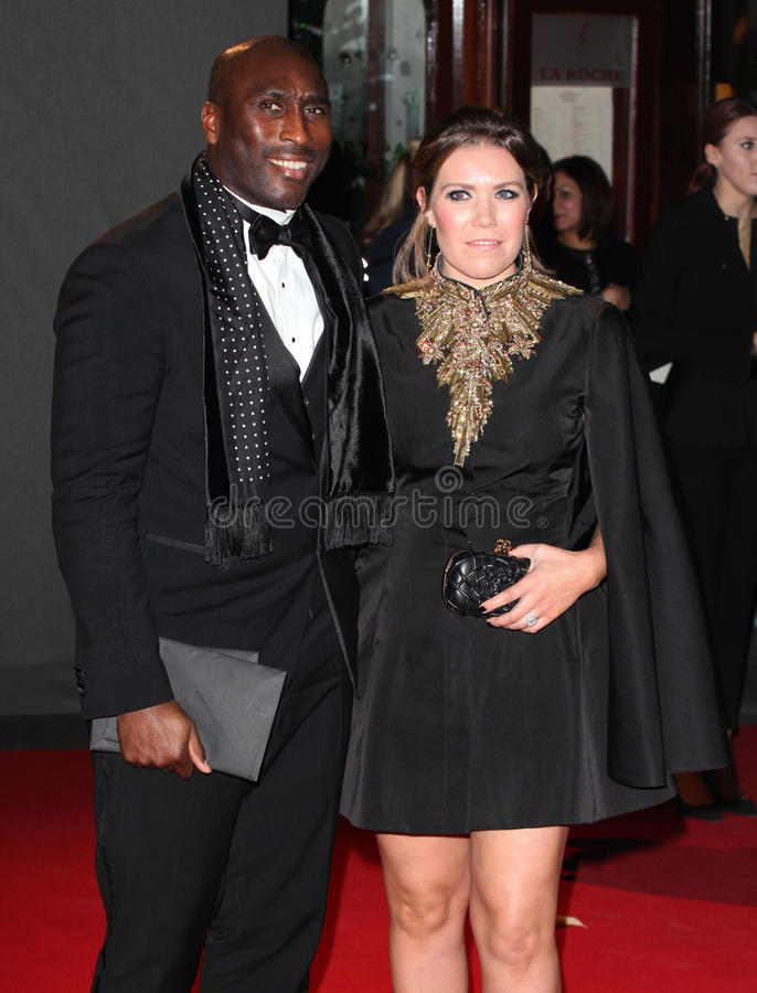 Sol Campbell. And wife Fiona arriving for the 2013 British Fashion Awards, at The London Coliseum, London. 02/12/2013 Picture by: Alexandra Glen / Featureflash stock photography