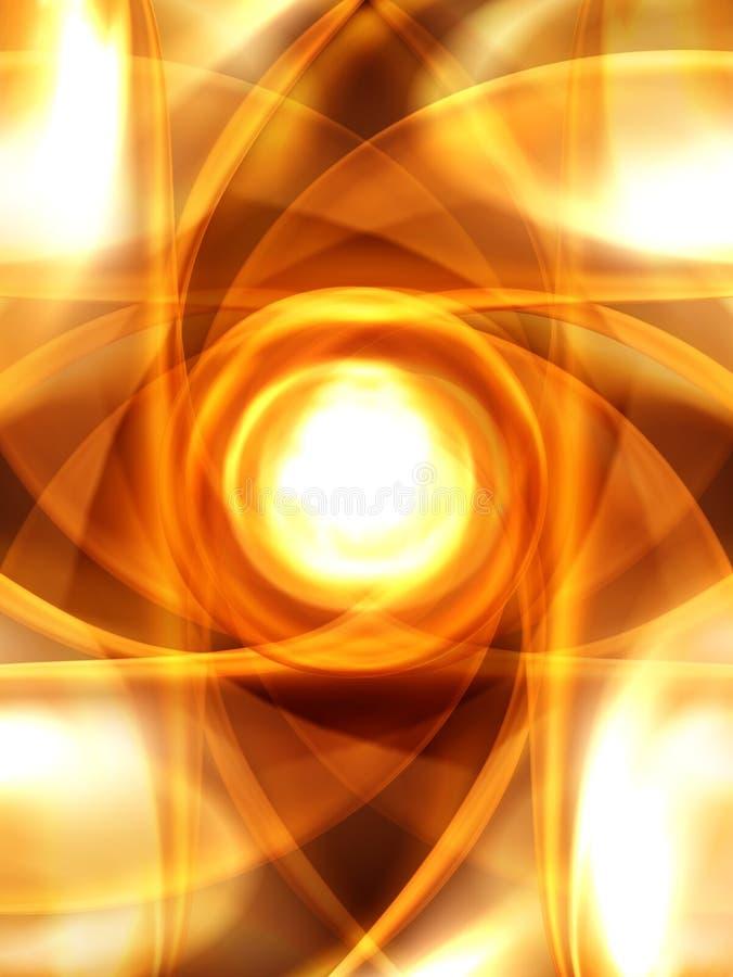 Sol Center ilustração do vetor