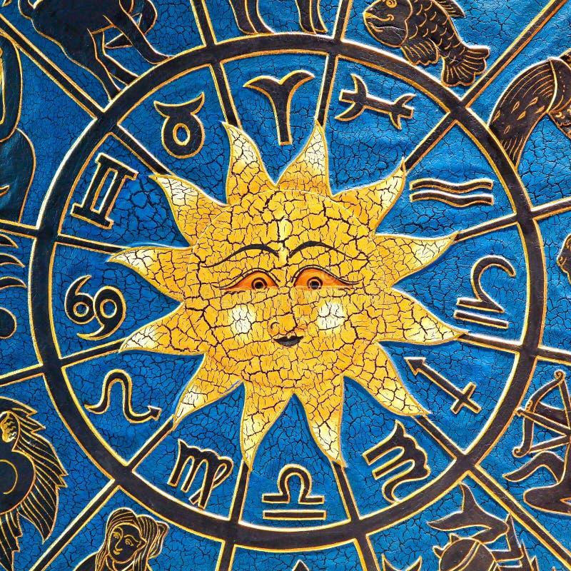 Sol da astrologia foto de stock royalty free