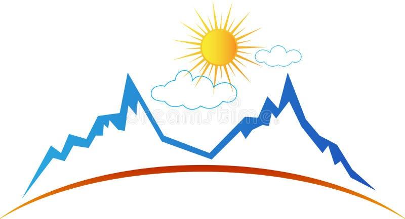 Sol da montanha ilustração do vetor