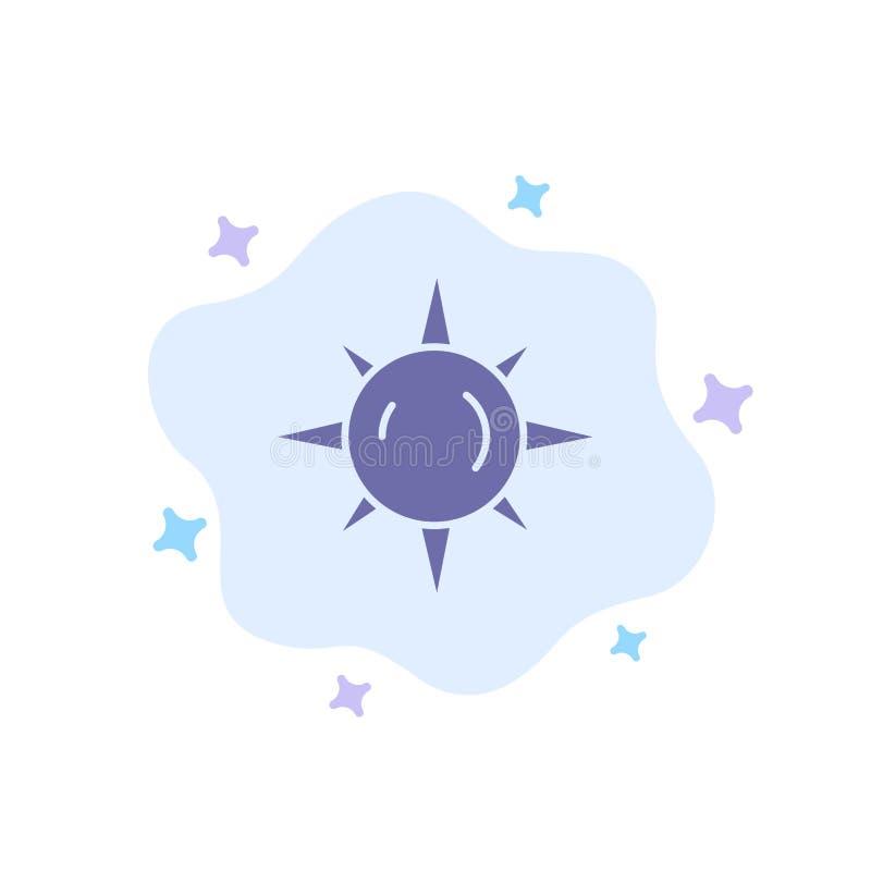 Sol dag som är ljus - blå symbol på abstrakt molnbakgrund royaltyfri illustrationer