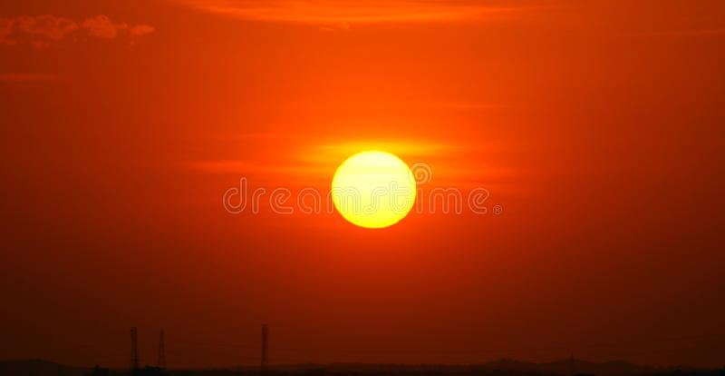 Sol de configuración foto de archivo libre de regalías