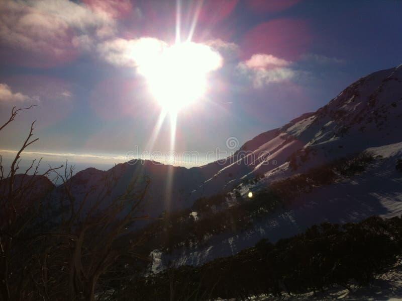 Sol de la nieve fotos de archivo libres de regalías
