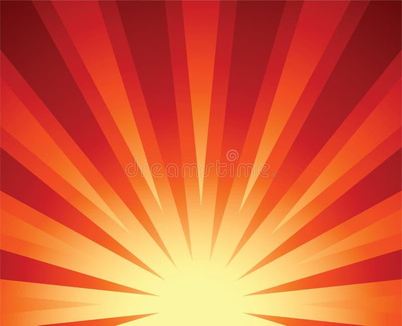 Sol de levantamiento ilustración del vector
