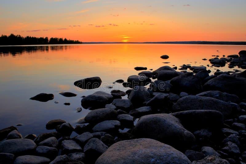 Sol de medianoche imagen de archivo libre de regalías