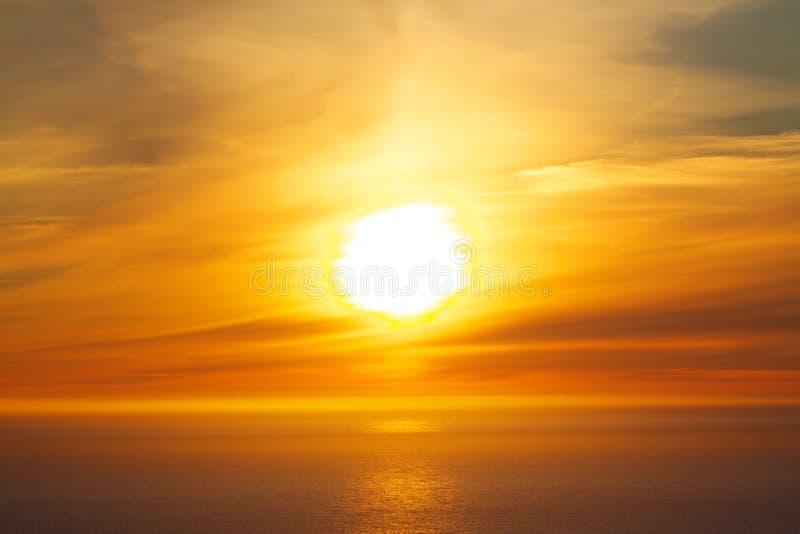 Sol de medianoche fotografía de archivo libre de regalías