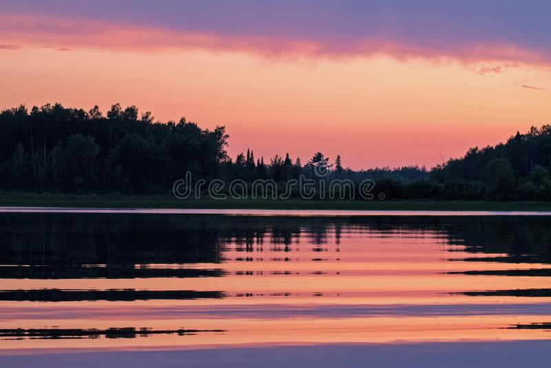 Sol de Verão no Lago Minnesota fotos de stock royalty free