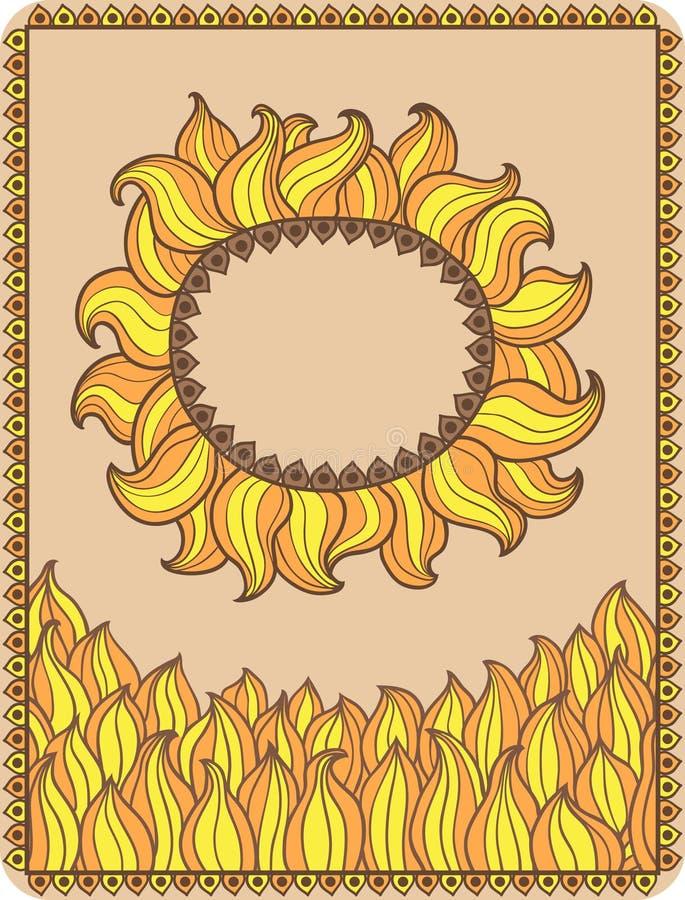 Sol decorativo libre illustration