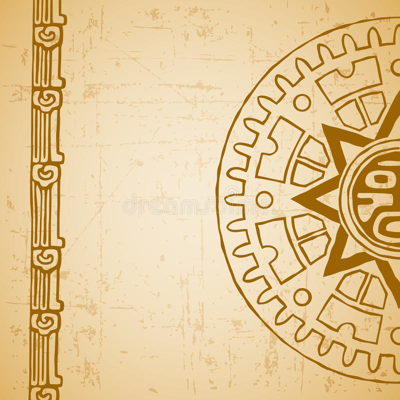 Sol del maya medio libre illustration