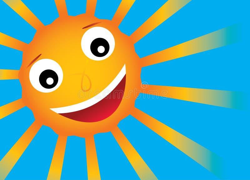 Sol del vector con sonrisa fotografía de archivo libre de regalías