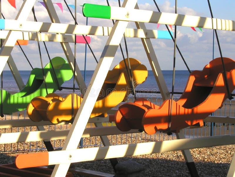 Sol do beira-mar do outono fotografia de stock