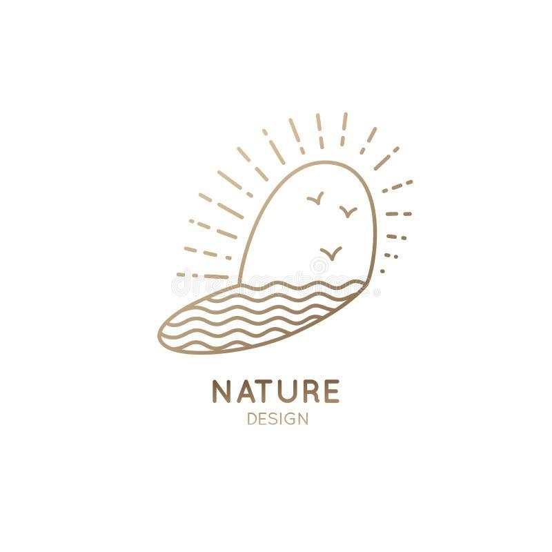 Sol do logotipo ilustração stock