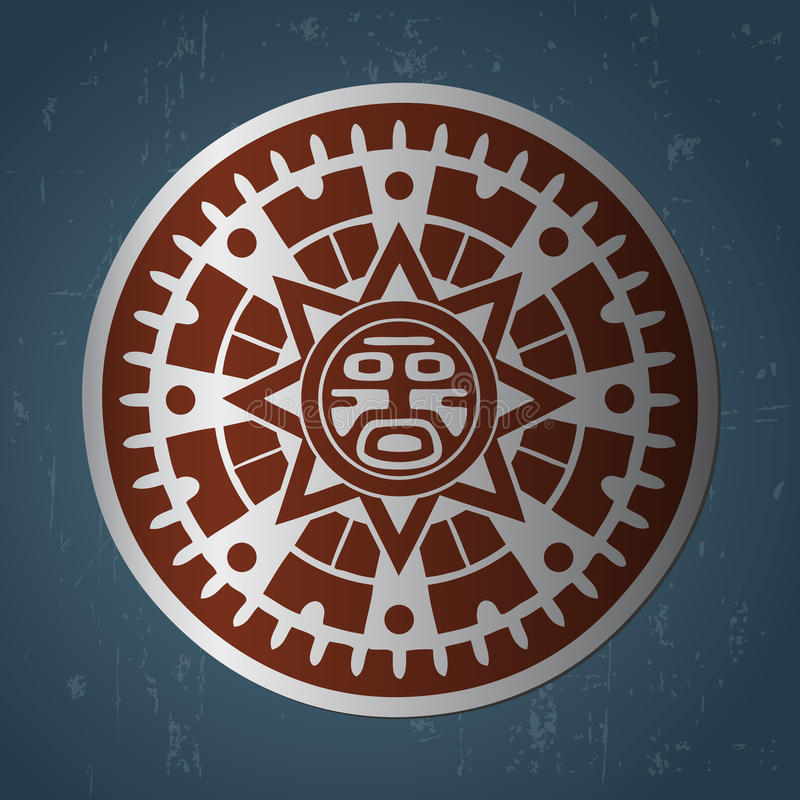 Sol do Maya ilustração royalty free