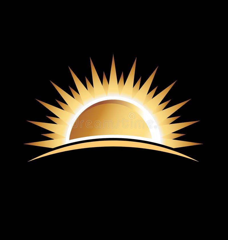 Sol do ouro ilustração stock