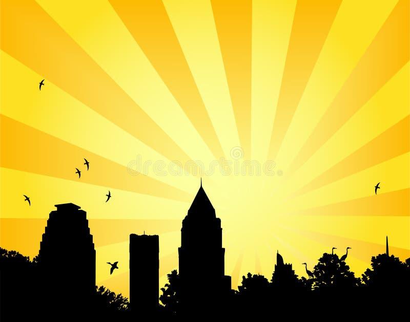 Sol do parque da cidade ilustração royalty free