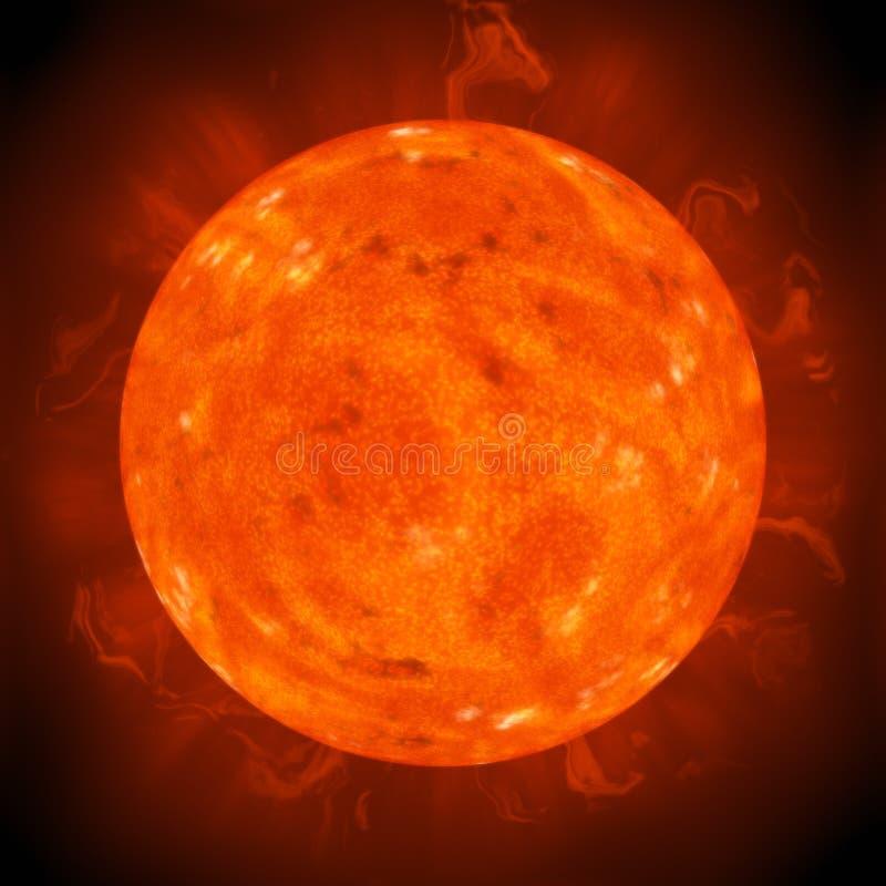 Sol do planeta ilustração do vetor