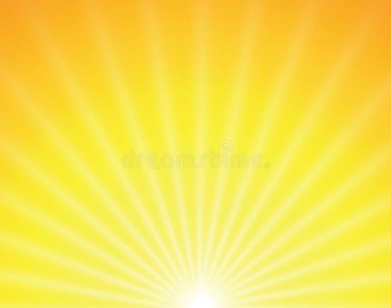 Sol do vetor no fundo amarelo ilustração do vetor