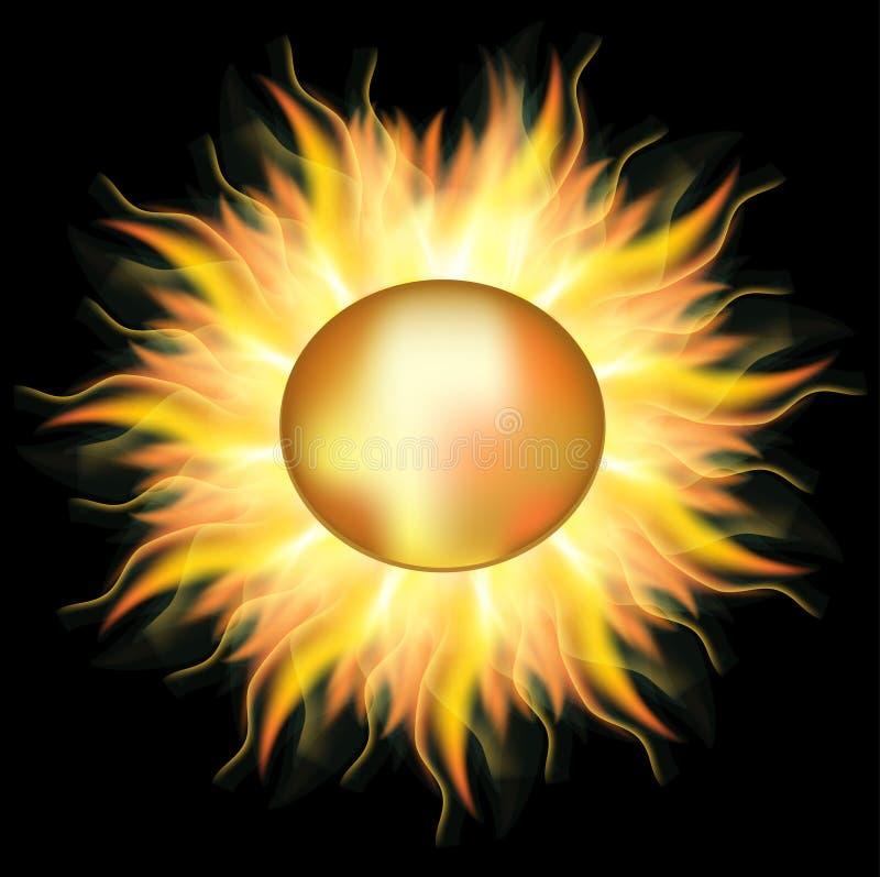 Sol dourado ilustração stock