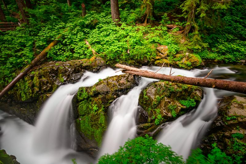 Sol Duc Falls Olympic National Park. Sol Duc Falls in Olympic National Park, Washington, USA royalty free stock photography