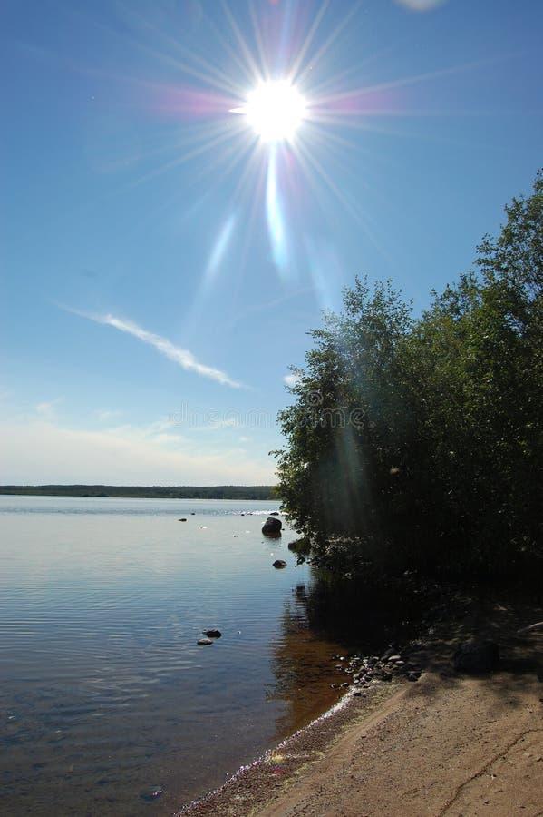 Sol en la playa fotos de archivo