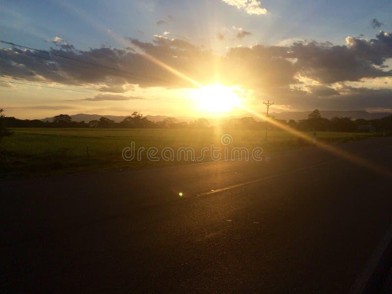 Sol en Sébaco, Nicaragua fotos de archivo libres de regalías