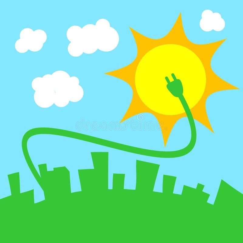 sol- energi vektor illustrationer