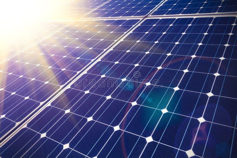 Sol- energi för hållbar utveckling arkivbilder