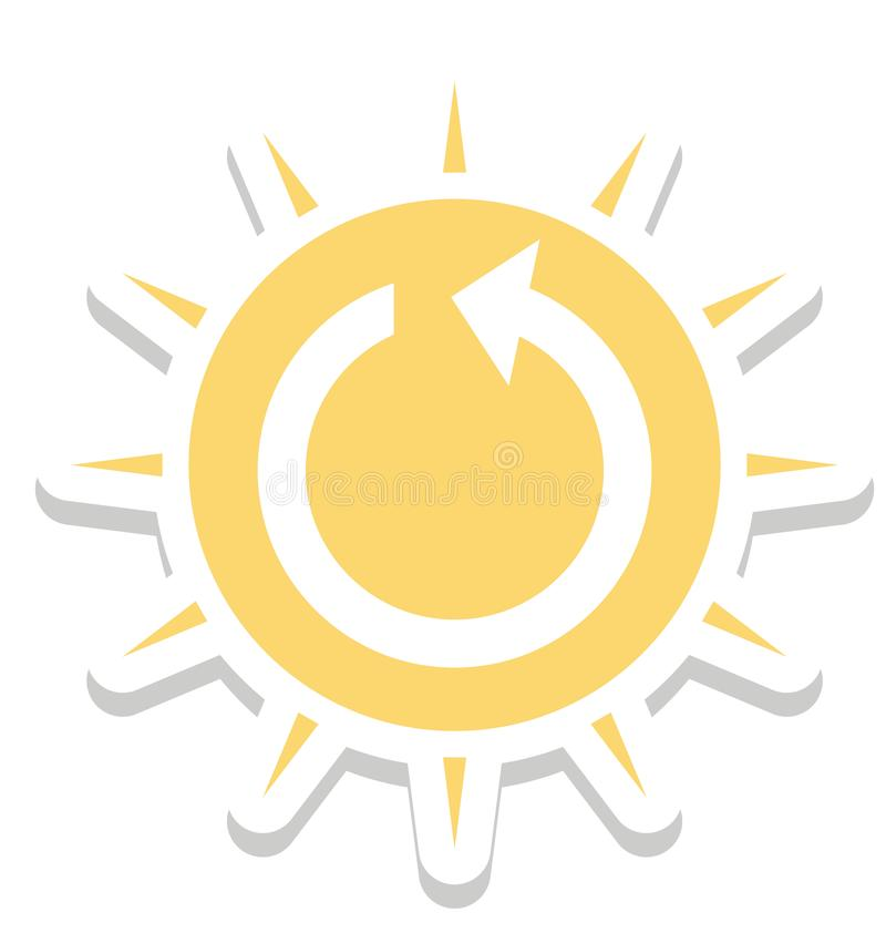 Sol- energi, isolerad vektorsymbol för solenergi färg vektor illustrationer
