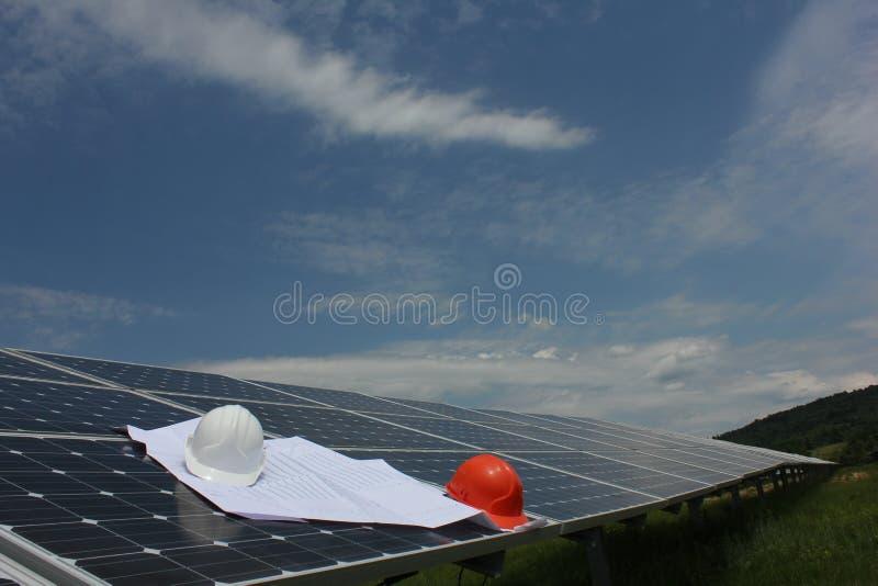 Sol- energi, solpaneler, renewables fotografering för bildbyråer