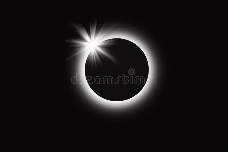 sol- förmörkelse royaltyfri illustrationer