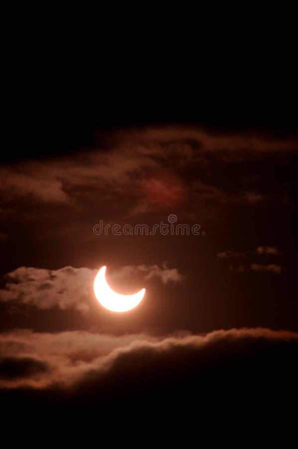 sol- förmörkelse arkivfoton