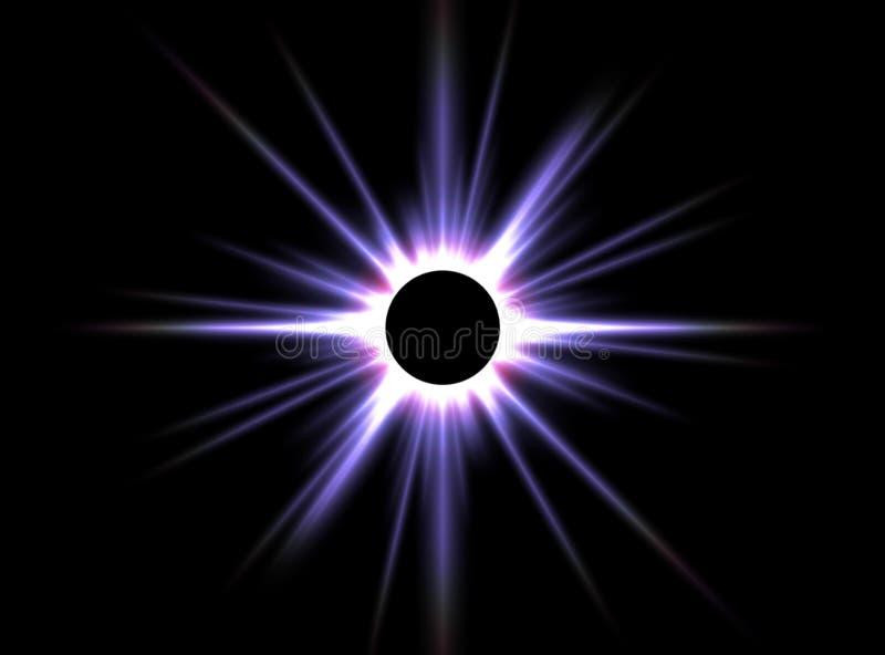 sol- förmörkelse arkivfoto