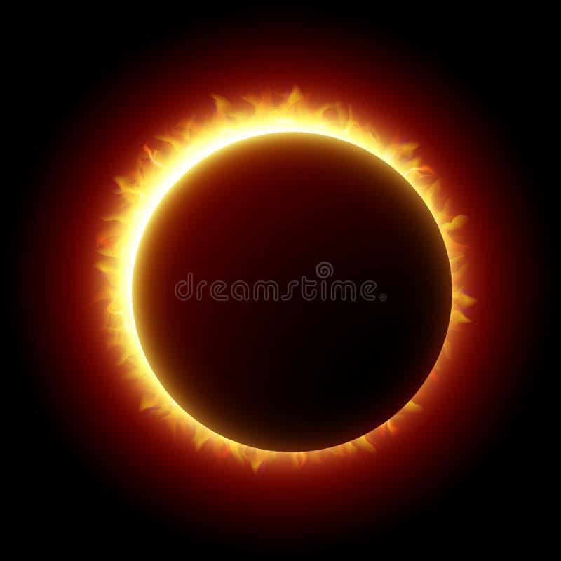 Sol- förmörkelse vektor illustrationer