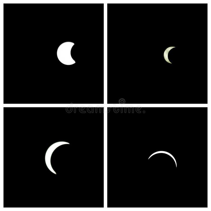 Sol- förmörkelse 2017 vektor illustrationer