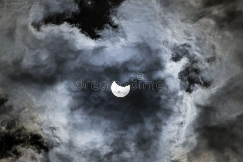 Sol- förmörkelse av mars 20th arkivbilder