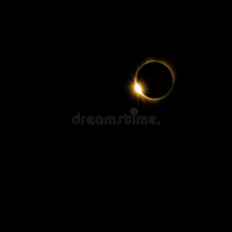 2017 sol- förmörkelse av solen vid månen royaltyfri fotografi