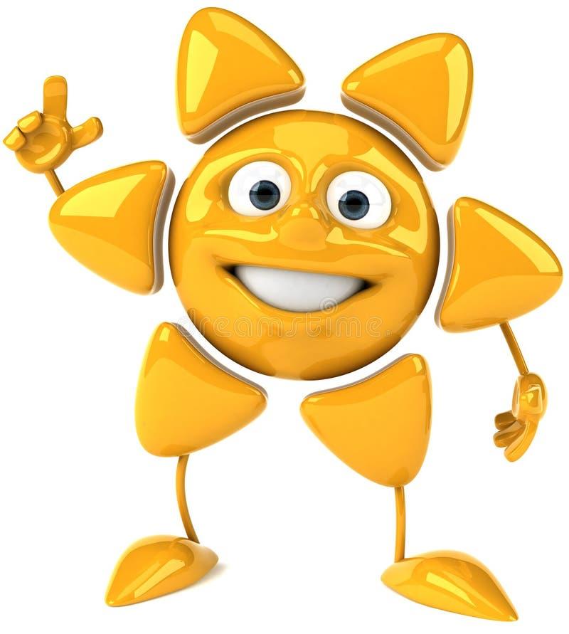 Sol feliz ilustración del vector