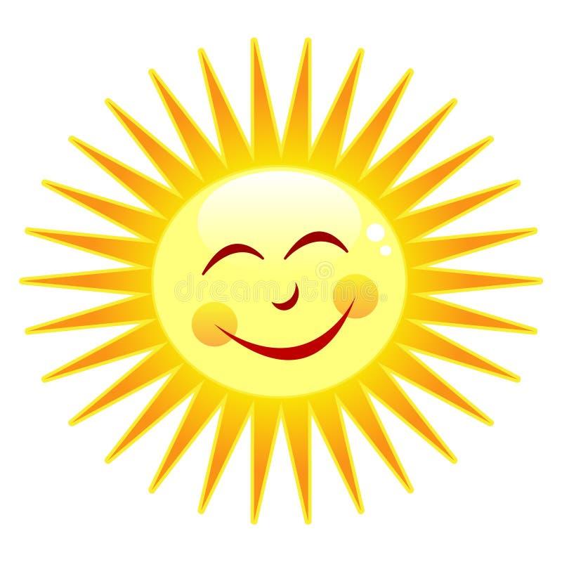 Sol feliz ilustração royalty free