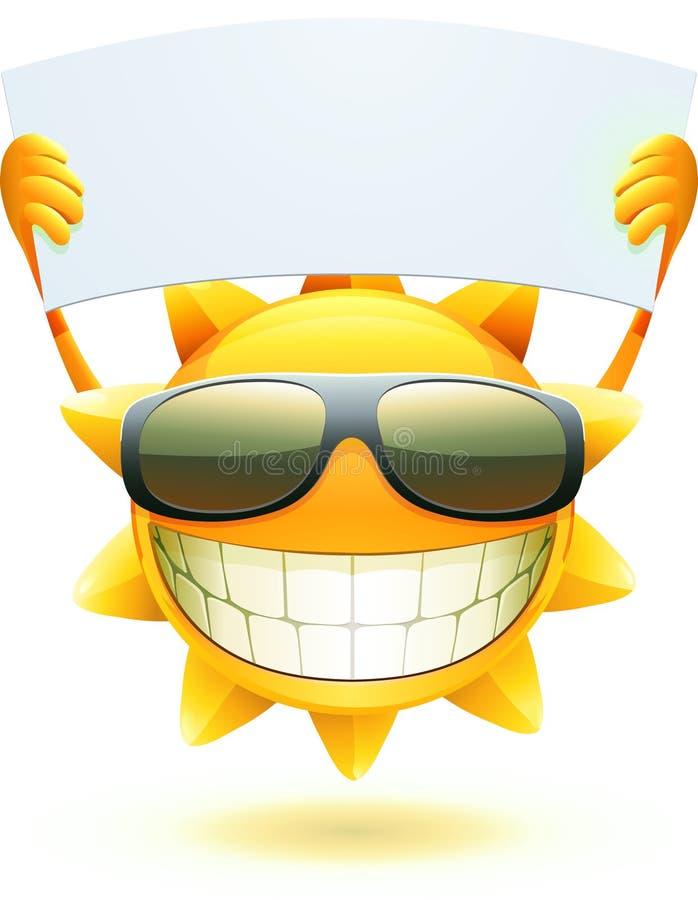 Sol feliz del verano stock de ilustración