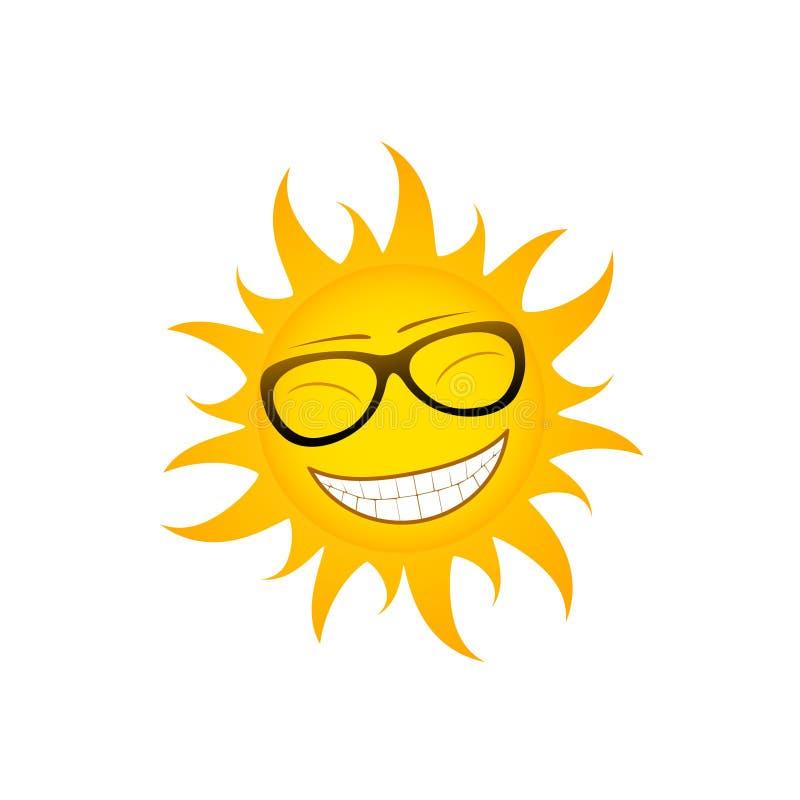Sol funky ilustração stock