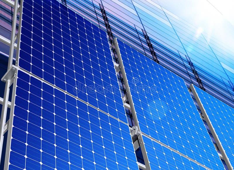 Sol- industri royaltyfri bild