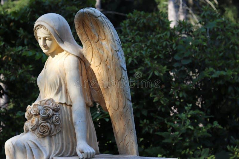 Sol kysst ängel arkivfoto