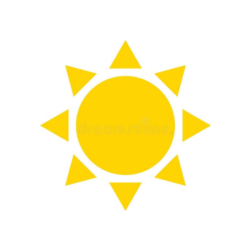 Sol liso do ícone ilustração stock