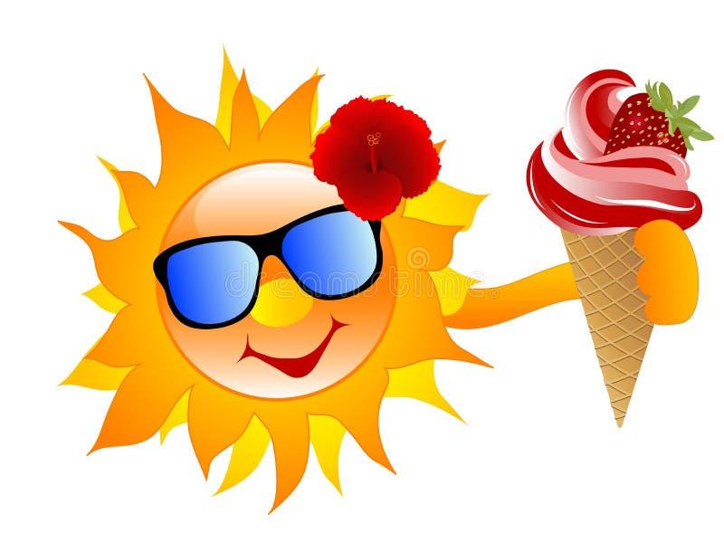 sol med glass vektor illustrationer illustration av clip art ice cream cone sundae clip art ice cream cone transparent