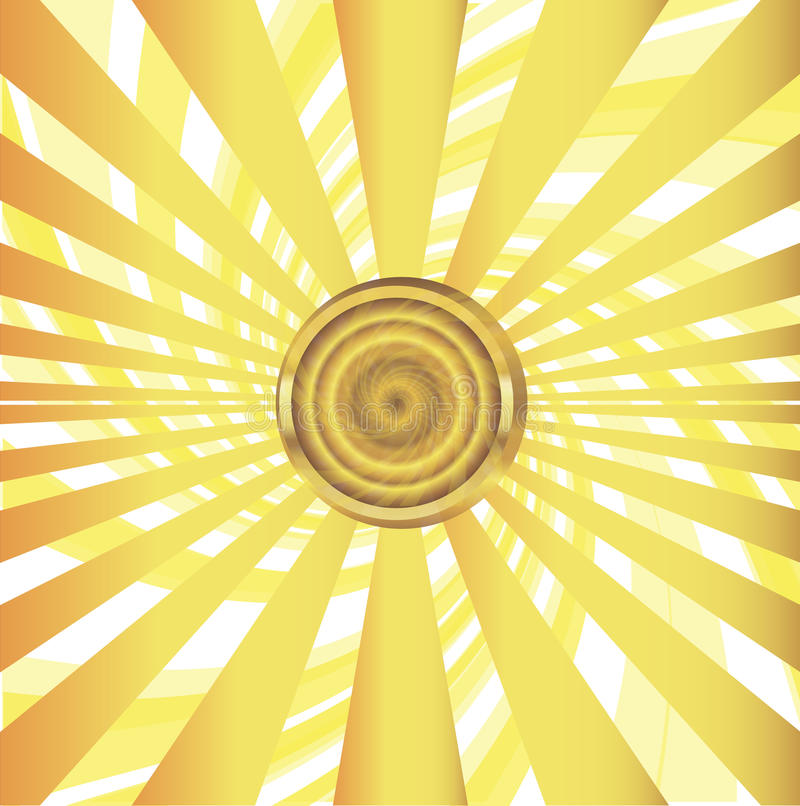 Sol med solstrålevektorillustrationen