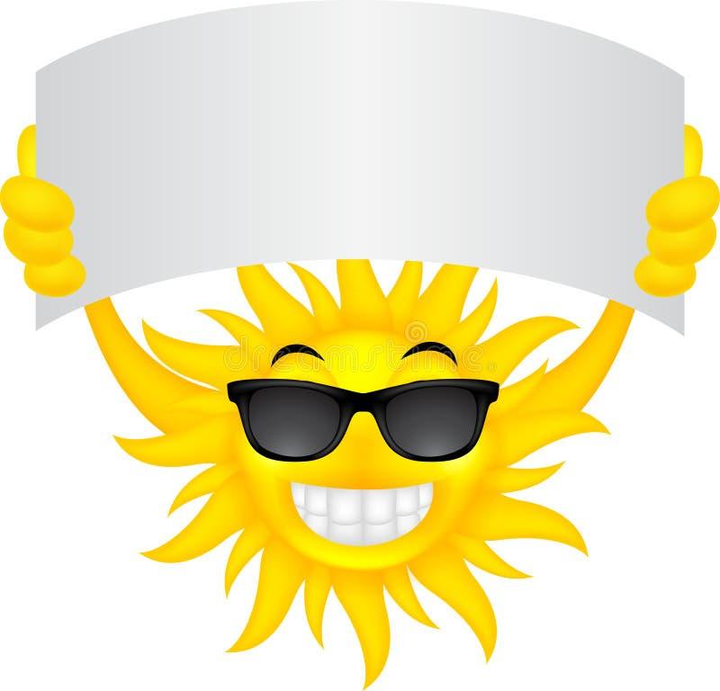 Sol med tecknet vektor illustrationer