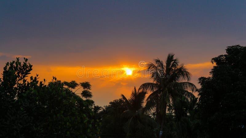 Sol naciente de la mañana fotos de archivo