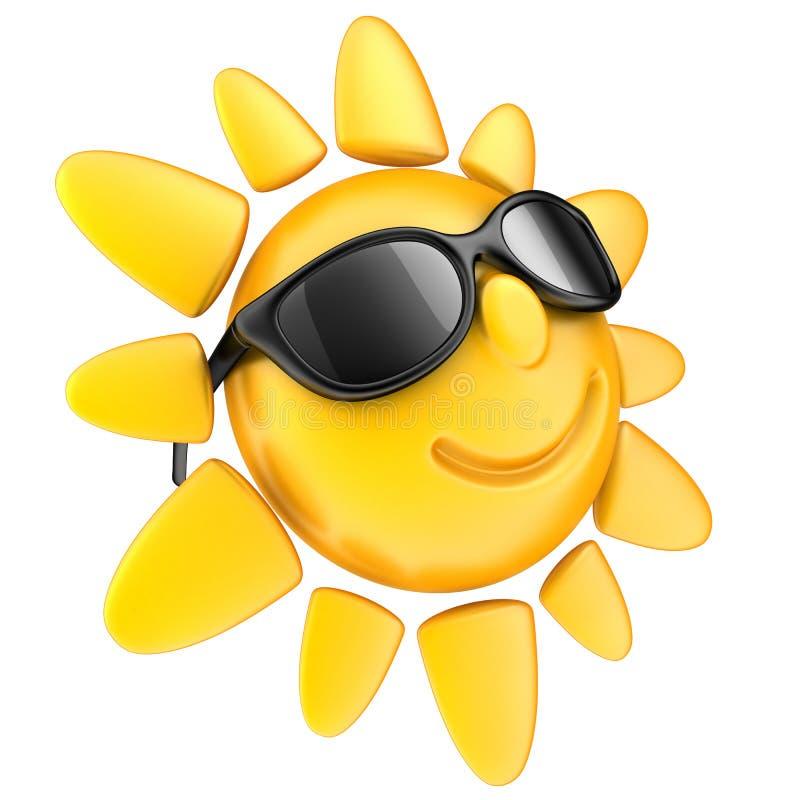 Sol och exponeringsglas royaltyfri illustrationer