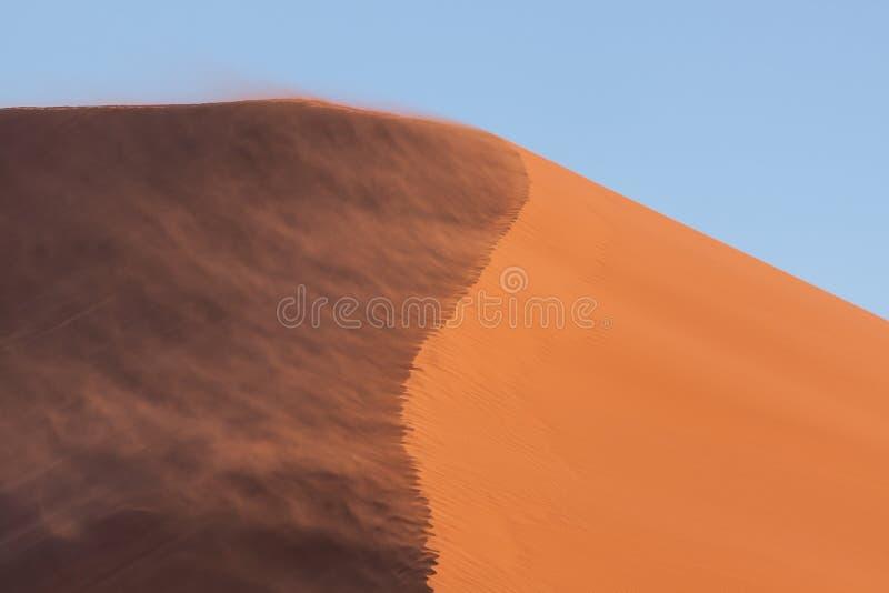 Sol- och skuggaskott av dyn 45 i Namibia fotografering för bildbyråer